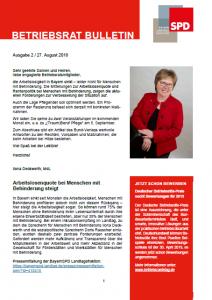 Betriebsrat Bulletin 2018-2